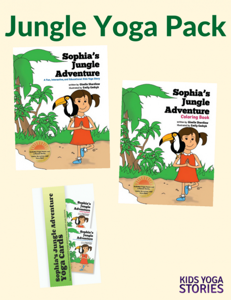 Jungle Yoga Books Pack - Kids Yoga Stories