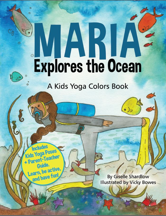 Maria Explores the Ocean, ocean yoga poses, ocean books for kids | Kids Yoga Stories