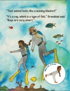 Maria Explores the Ocean yoga book | Kids Yoga Stories