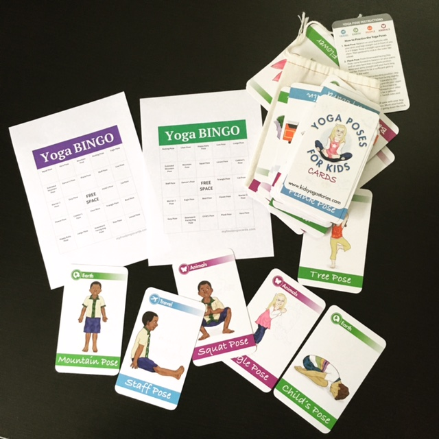 Play Yoga BINGO with our Yoga Poses for Kids Cards   Kids Yoga Stories