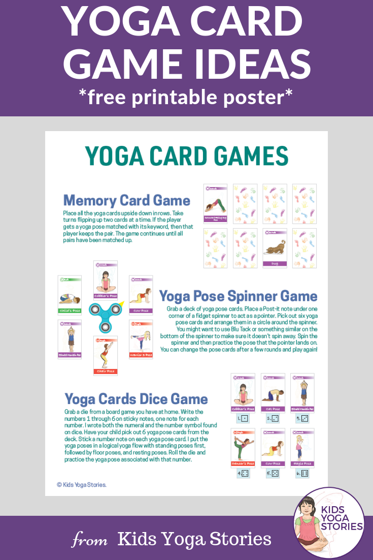 image regarding Yoga Cards Printable named How in the direction of Enjoy with Yoga Playing cards for Youngsters (Printable Poster