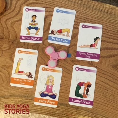 Yoga Pose Spinner Game   Kids Yoga Stories