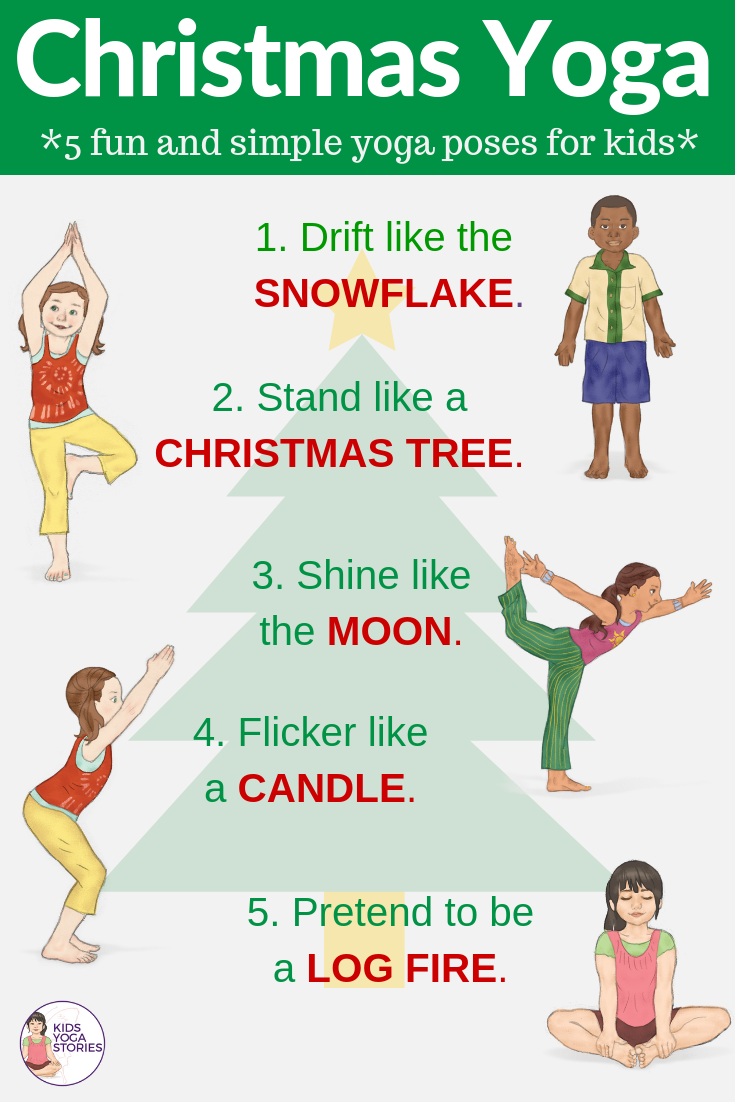 Holiday inspired yoga poses for kids | Kids Yoga Poses