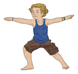 Warrior 2 Pose for Kids   Kids Yoga Stories