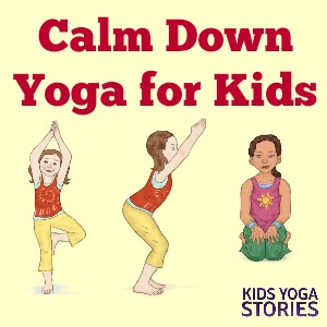 picture about Yoga Poses for Kids Printable called Tranquil Down Yoga Poses for Children (Printable Poster) - Children Yoga