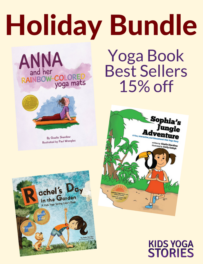 Holiday Bundle: Top three yoga books for kids at 15% to encourage your children to learn, be active, and have fun this holiday season | Kids Yoga Stories