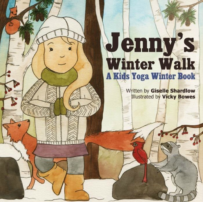 Jenny's Winter Walk yoga book by Giselle Shardlow of Kids Yoga Stories