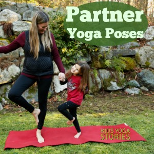 Partner Yoga Poses With Adult And Child