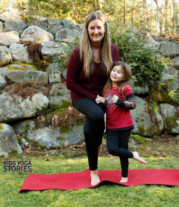 Partner Eagle Pose: partner yoga poses for kids   KIds Yoga Stories