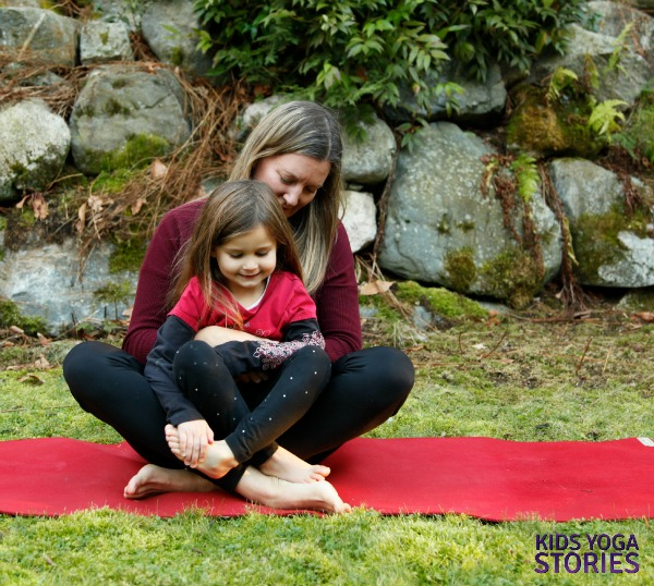Double Easy Pose: partner yoga poses with kids   Kids Yoga Stories