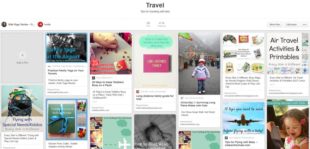 Pinterest Travel Board | Kids Yoga Stories