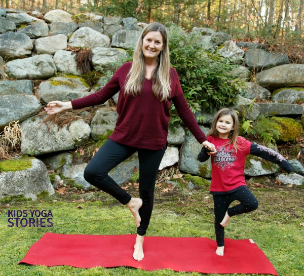 Partner Tree Pose: partner yoga poses for kids | Kids Yoga Stories