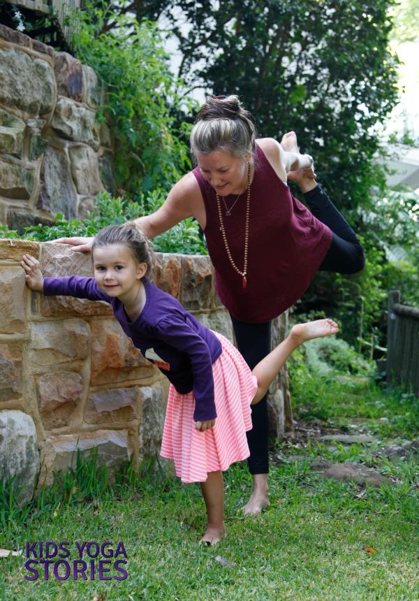 Ballet Yoga: practice Dancer's Pose to bend back | Kids Yoga Stories