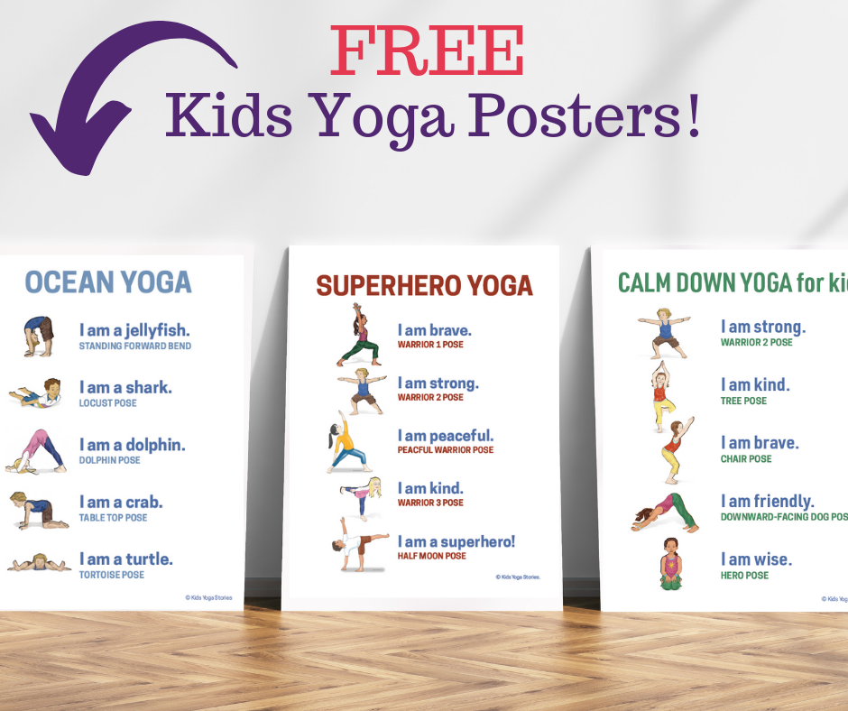 photograph regarding Yoga Poses for Kids Printable identify 5 Zoo Yoga Poses for Youngsters (Printable Poster) - Youngsters Yoga