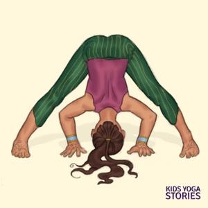 Wide-Legged Forward Bend for Kids   Kids Yoga Stories