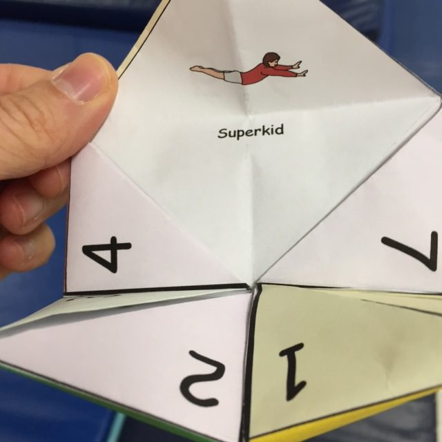 Paper Fortune Tellers with Yoga Poses   Kids Yoga Stories