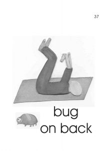 Bug On Its Back Pose for children with Autism