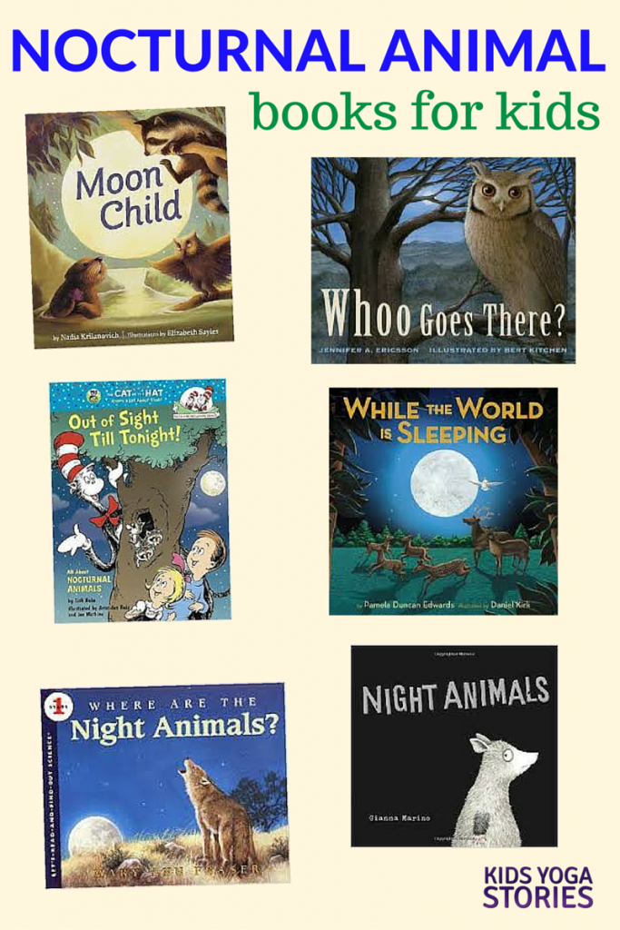 Nocturnal Animals Books for Kids   Kids Yoga Stories