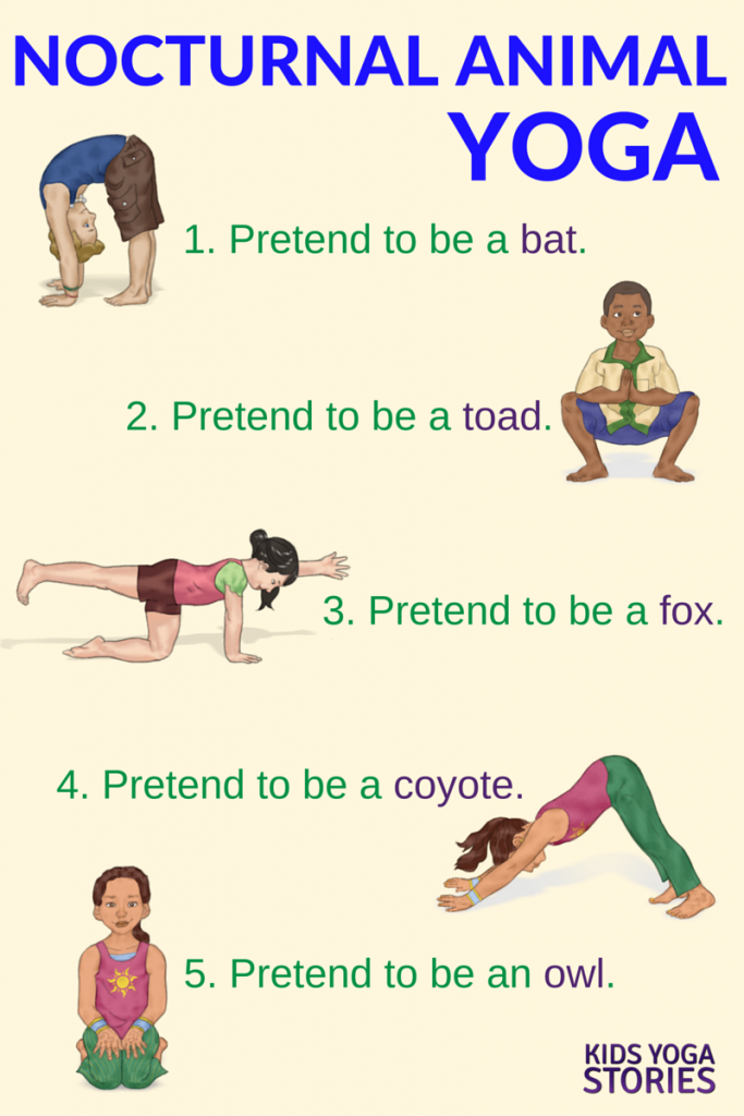 Yoga Poses And Names For Kids Nocturnal Animals Yoga...