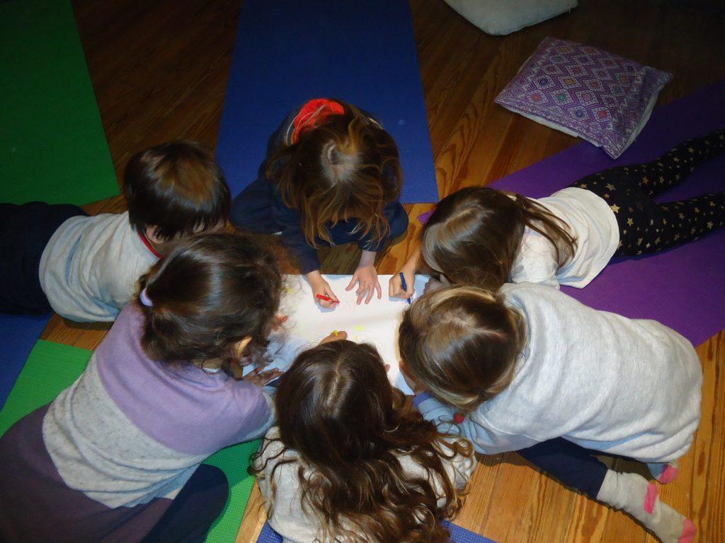 Kindergarten students expressing their feelings through art | Kids Yoga Stories