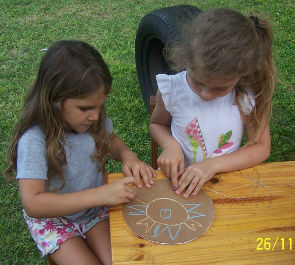Kindergarten yoga students painting mandalas together | Kids Yoga Stories