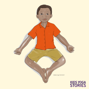 Reclining Bound Angle Pose for kids | Kids Yoga Stories