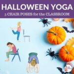 Halloween Class Ideas: Yoga Poses to do with a chair | Kids Yoga Stories