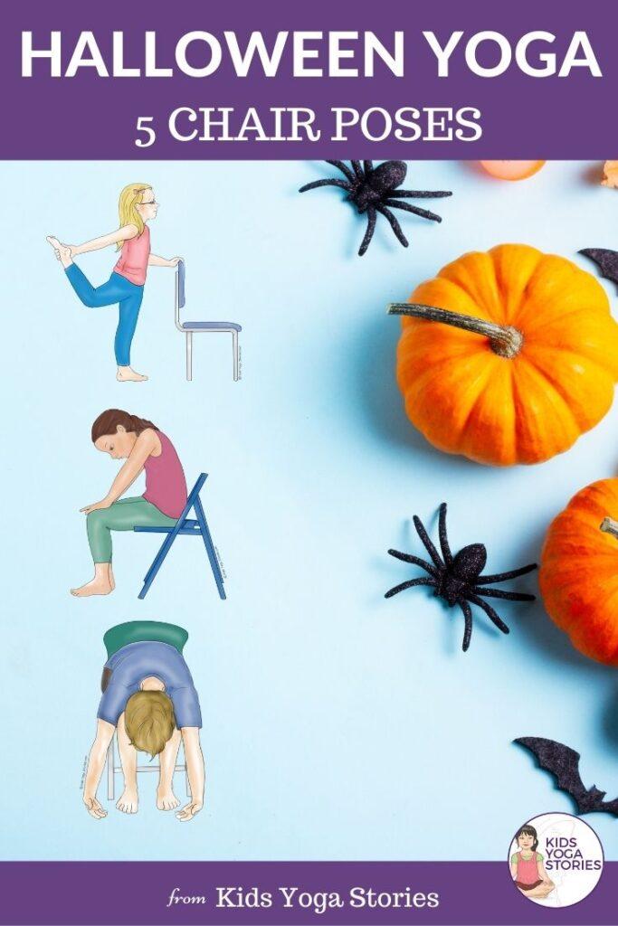 Halloween Yoga Poses with Chair | Kids Yoga Stories
