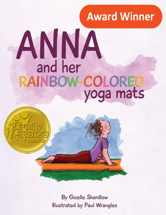 Anna and her Rainbow-colored Yoga Mats Image