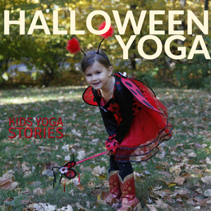 Halloween yoga class ideas - 5 yoga poses for kids using a chair | Kids Yoga Stories