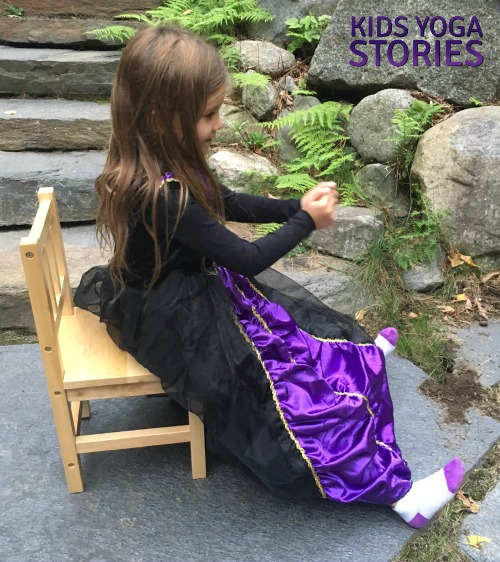 Seated Forward Bend - pretend to be a witch for Halloween | Kids Yoga Stories