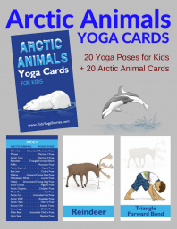 Arctic Animals Yoga Cards for Kids | Kids Yoga Stories