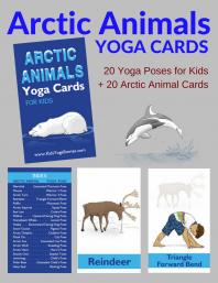 Arctic Animals Yoga Cards for Kids | Kids Yoga Stories