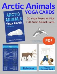 Arctic Animals Yoga Cards for Kids (English) Image