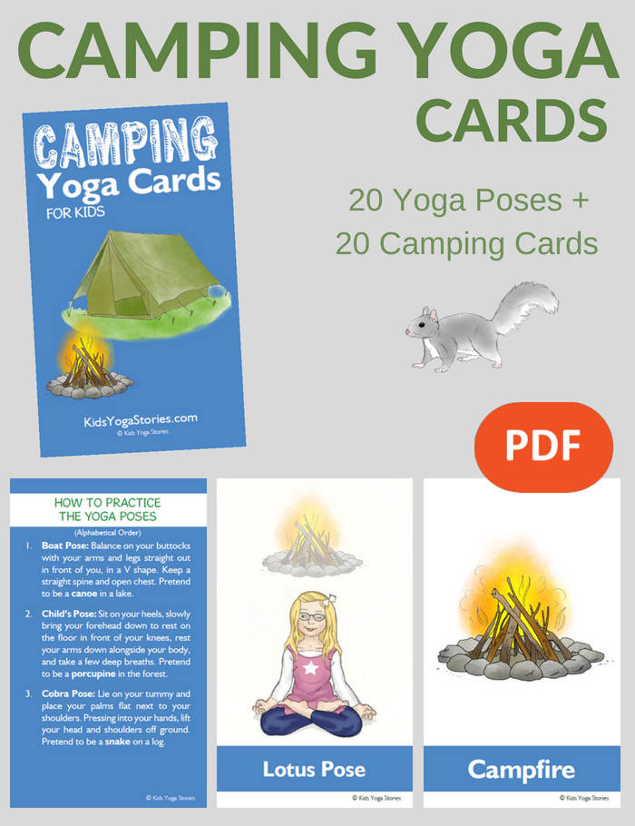 Camping Yoga Cards for Kids | Kids Yoga Stories