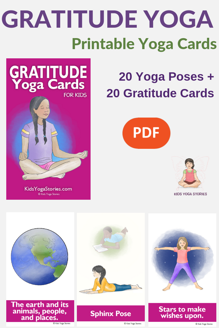 gratitude yoga, yoga cards for kids, gratitude practice | Kids Yoga Stories