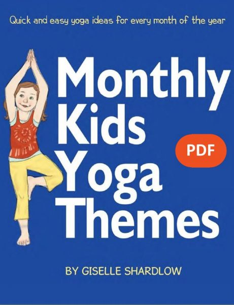 Monthly Kids Yoga Themes PDF Download (English) Image