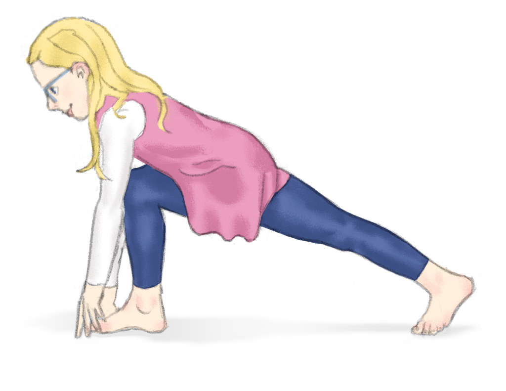 Lunge pose for kids | Kids Yoga Stories