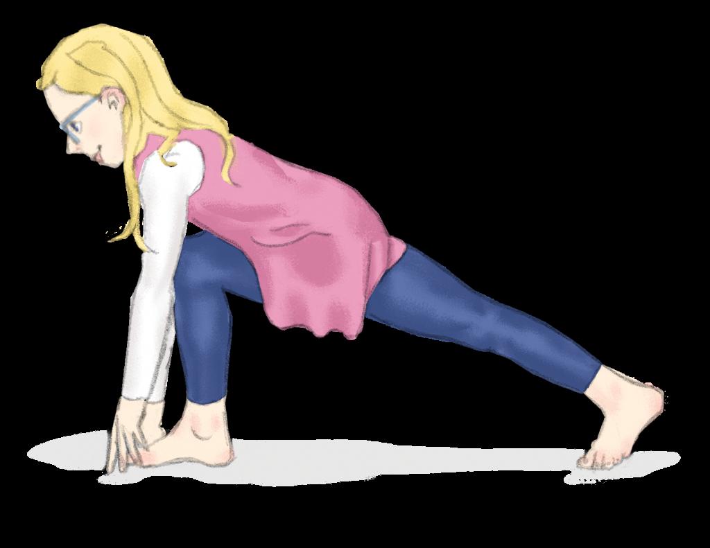 Lunge pose for kids | Kids Yoga Stories