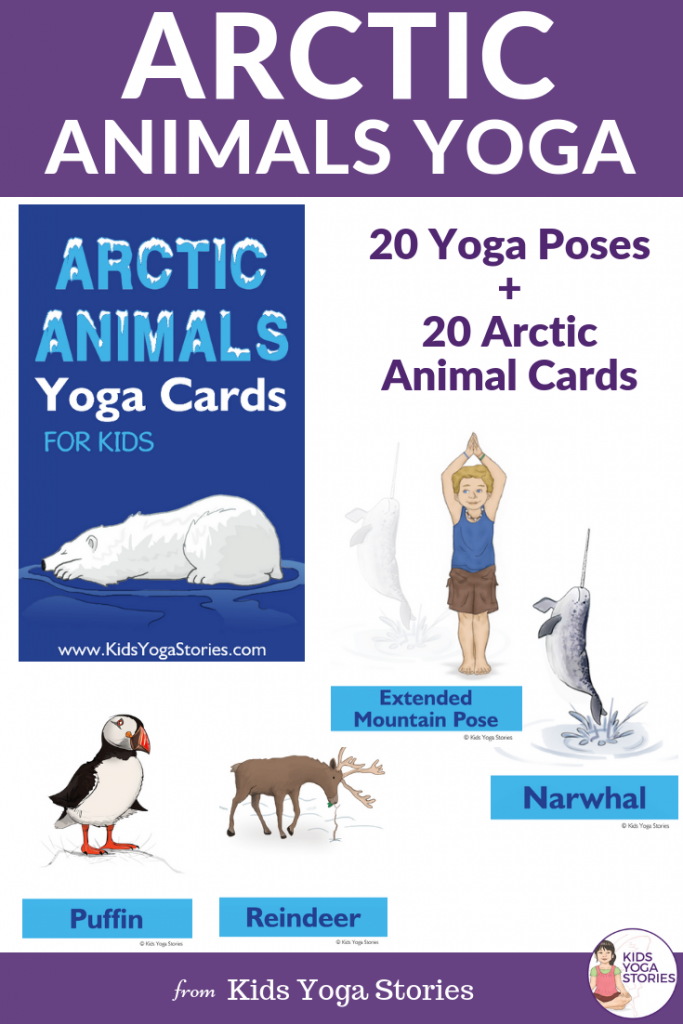 arctic animals yoga, arctic animal activities, movement for kids | Kids Yoga Stories