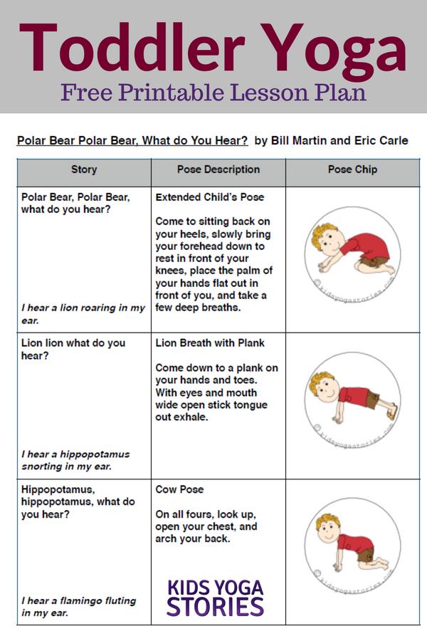 Polar Bear, Polar Bear, What Do You Hear? Toddler Yoga Lesson Plan | Kids Yoga Stories