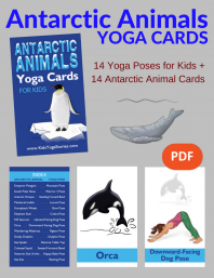 Antarctic Animals Yoga Cards for Kids PDF Download (English) | Kids Yoga Stories