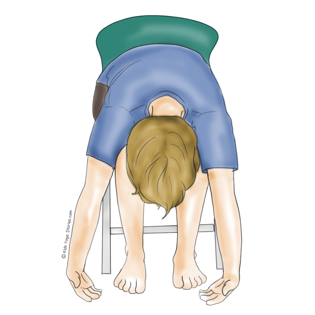 Child's Pose Using a Chair   Kids Yoga Stories