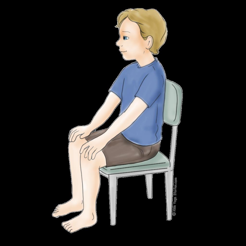 Hero Pose using a Chair | Kids Yoga Stories