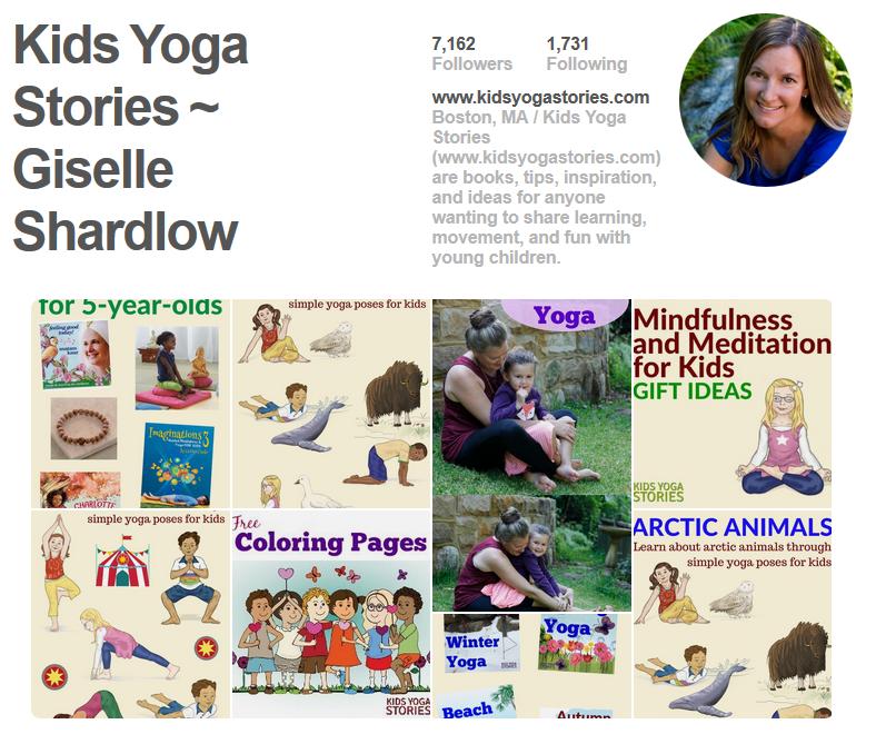 Kids Yoga Stories Pinterest page