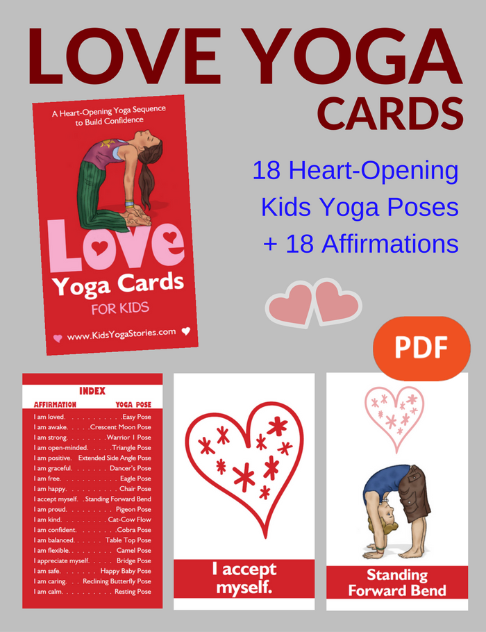 photo regarding Yoga Cards Printable known as Assortment of Printable Yoga Playing cards for Children - Flow within just