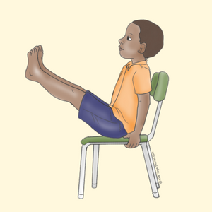 Boat Pose for Kids Using a Chair | Kids Yoga Stories