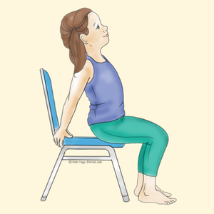 Camel Pose Using a Chair | Kids Yoga Stories