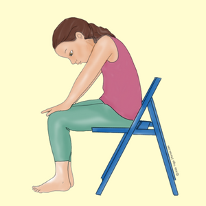 Cat Pose Using a Chair | Kids Yoga Stories