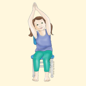 Crescent Moon Pose Using a Chair | Kids Yoga Stories